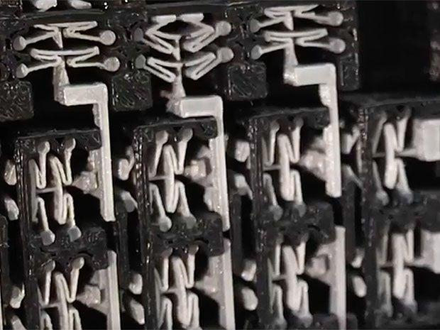 3D printed metamaterial door lock mechanism