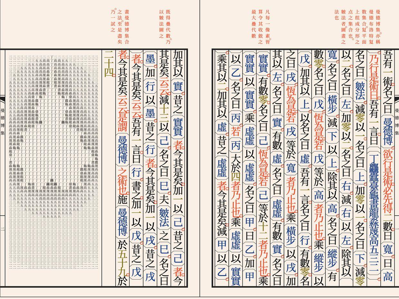 A rendering of a program written in wenyan-lang to draw the Mandelbrot set.
