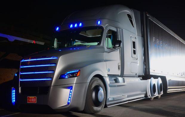 A semi-atonomous semi truck.