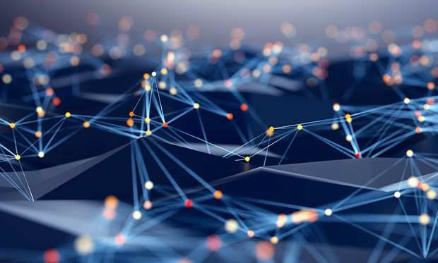 Abstract image of a tech network.