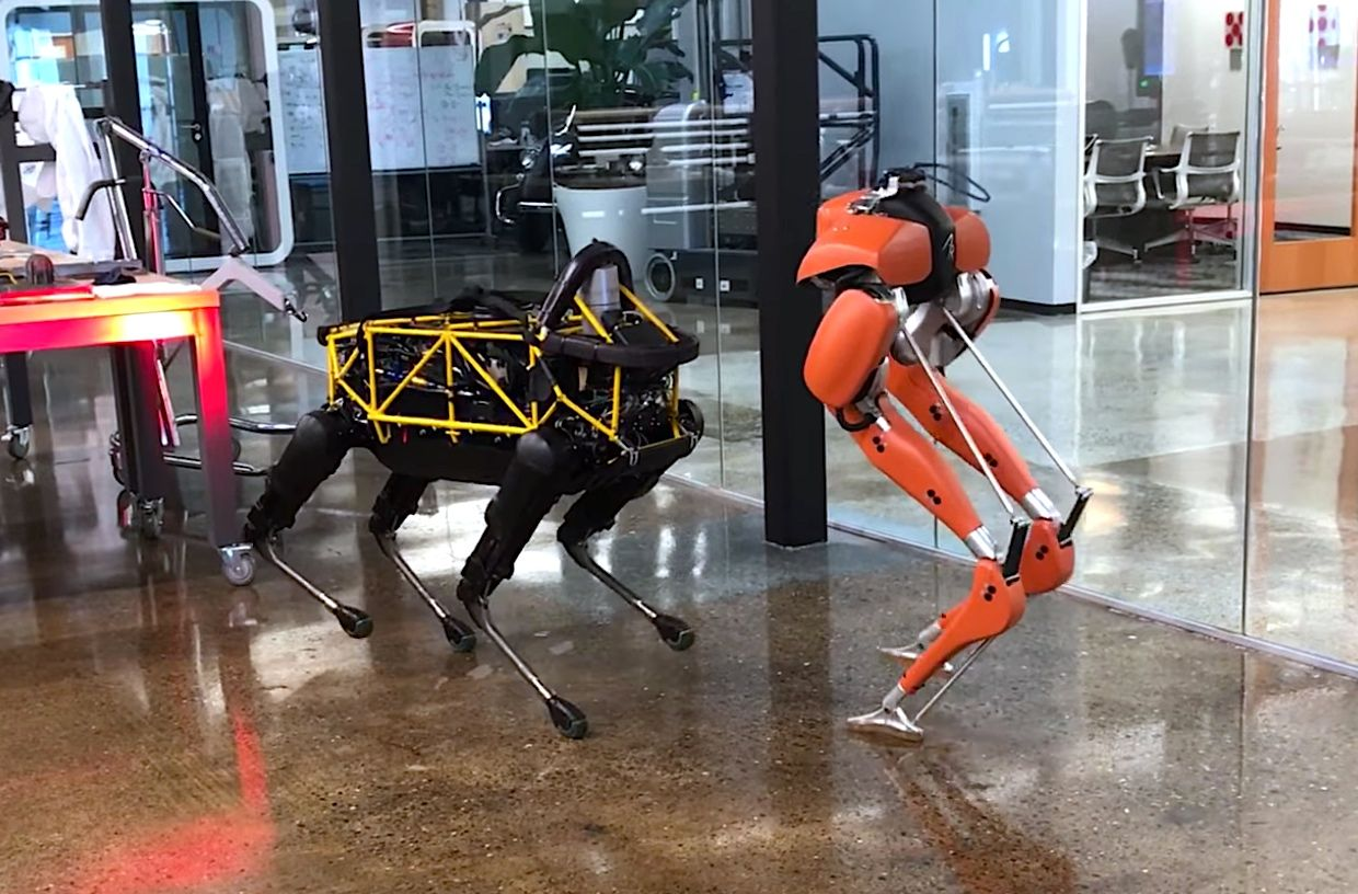 Agility Robotics' Cassie and Boston Dynamics' Spot have a robot playdate at Playground Global