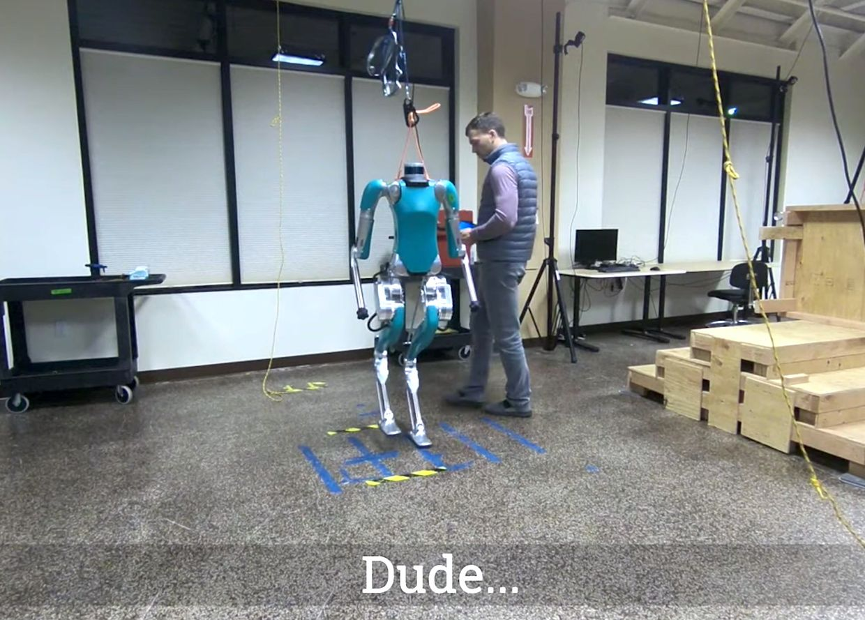 Agility Robotics Digit humanoid robot learning about personal space