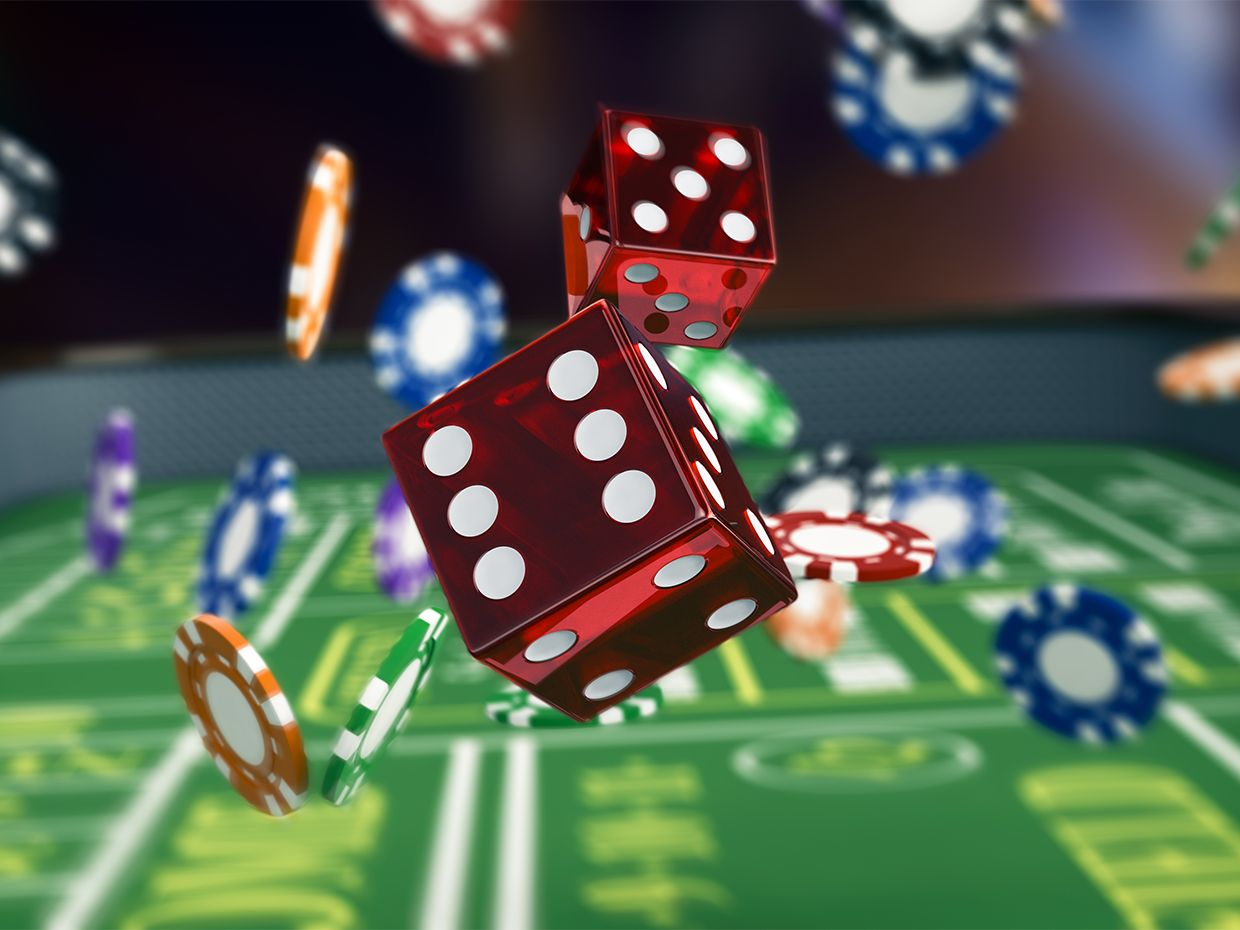 An image of dice and poker chips to illustrate a gamble.
