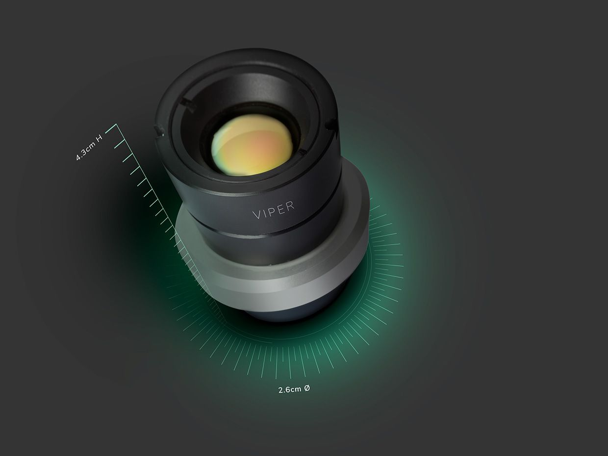An image of the far infrared camera called Viper that the startup AdaSky has developed for self-driving cars.