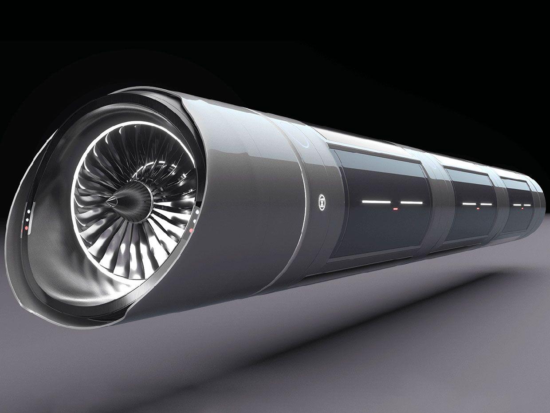 Artist's conceptual illustration of the Zeleros hyperloop vehicle.