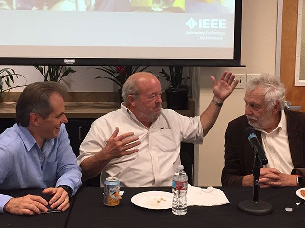 Atari alumni Owen Rubin, Al Alcorn, and Nolan Bushnell enthusiastically reminisce about their shenanigans in the early days of the company