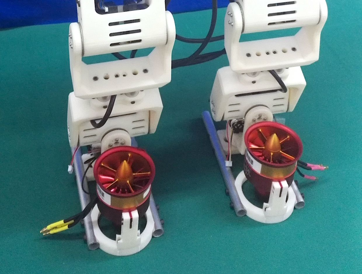 Bipedal Robot Uses Jet-Powered Feet to Step Over Large Gaps