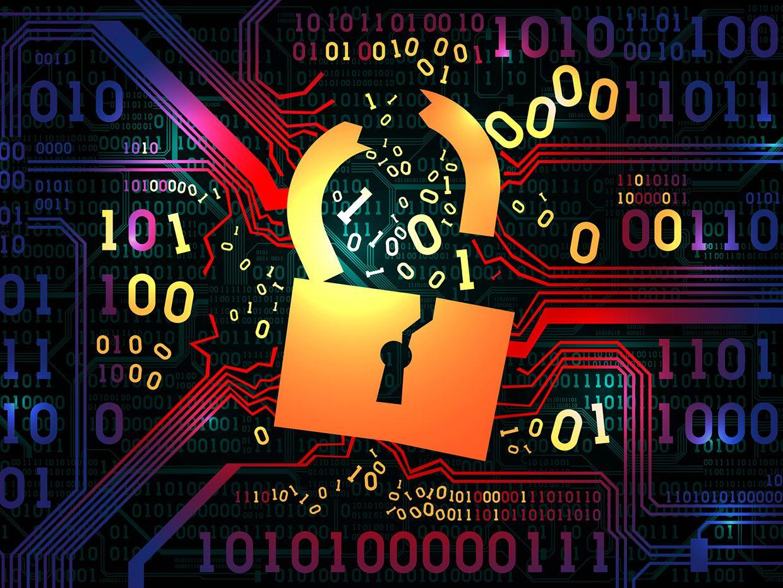 broken cybersecurity lock