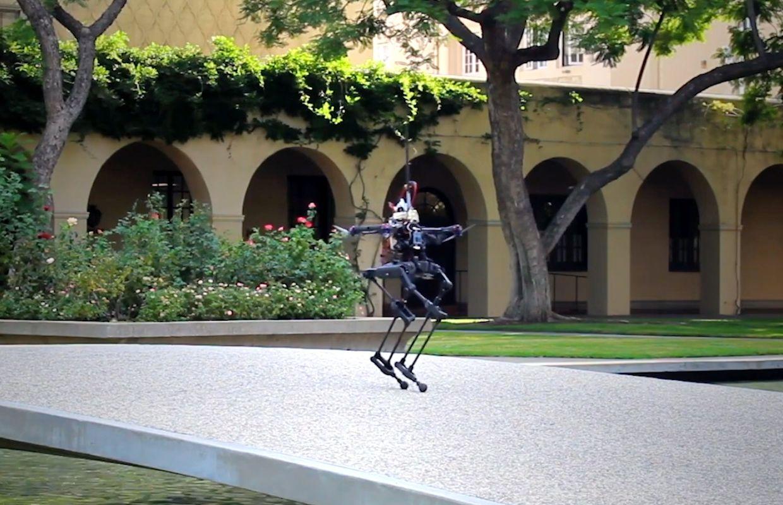 Caltech's Leonardo bipedal robot with drone thrusters