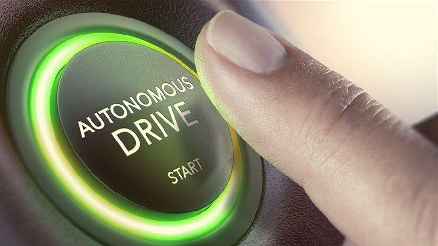 Car autonomous drive start button.