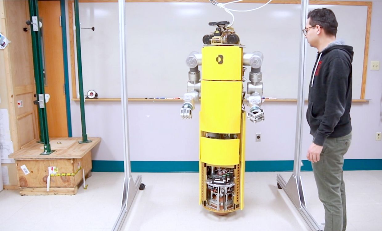 CMU Ballbot with two 7-DoF arms