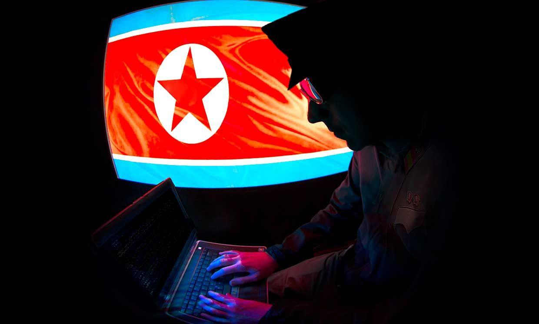 Conceptual photo-illustration of a North Korean hacker