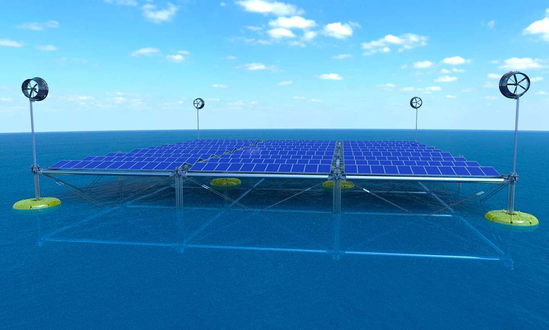 Conceptual rendering of Sinn Power's Ocean Hybrid platform.