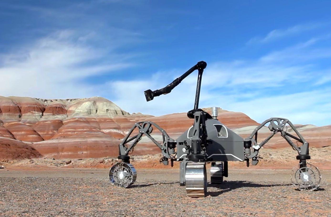 DFKI Mars rover test in Utah