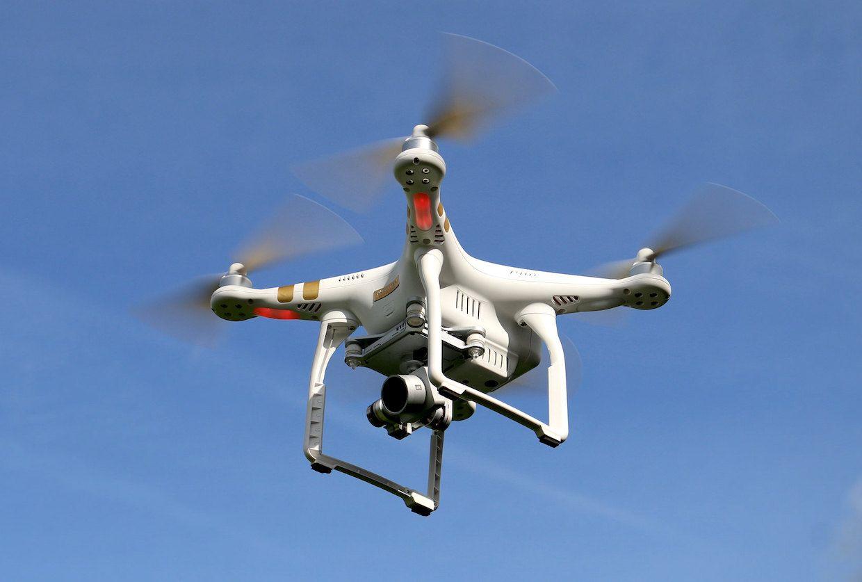 DJI Phantom drone flying