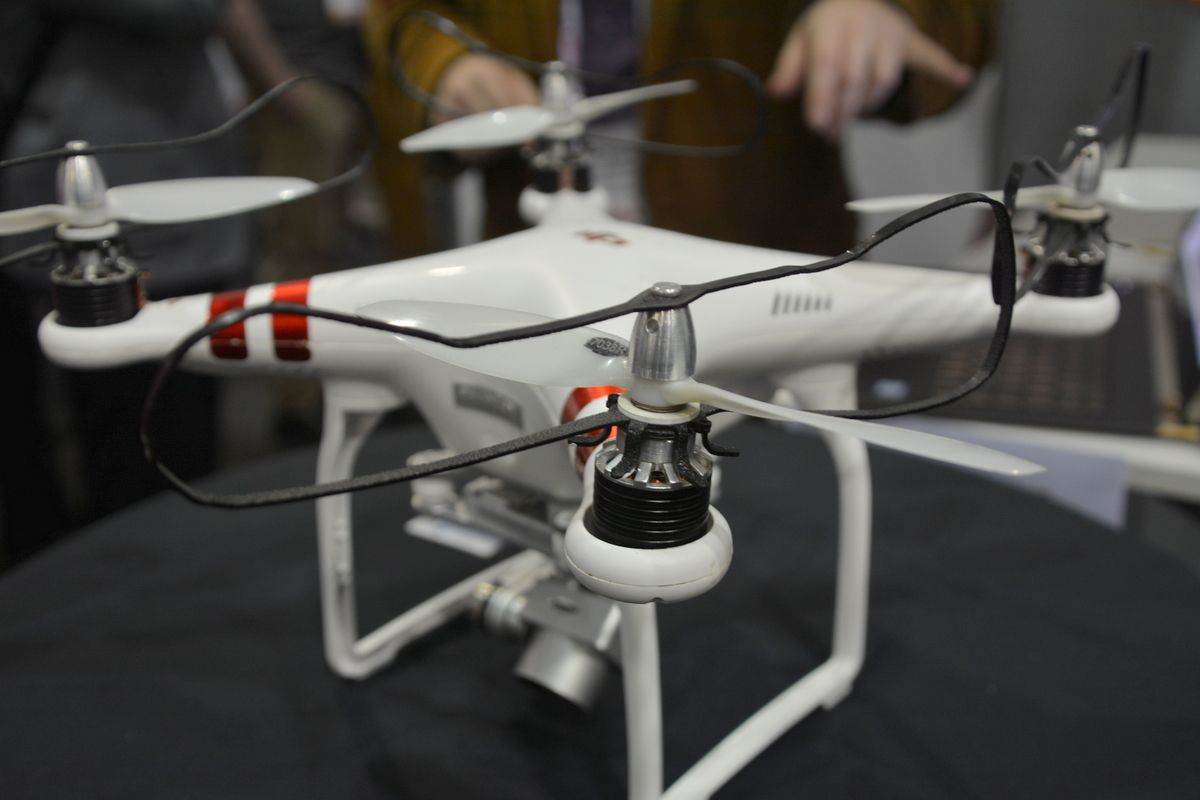 Drone with safety rotor system