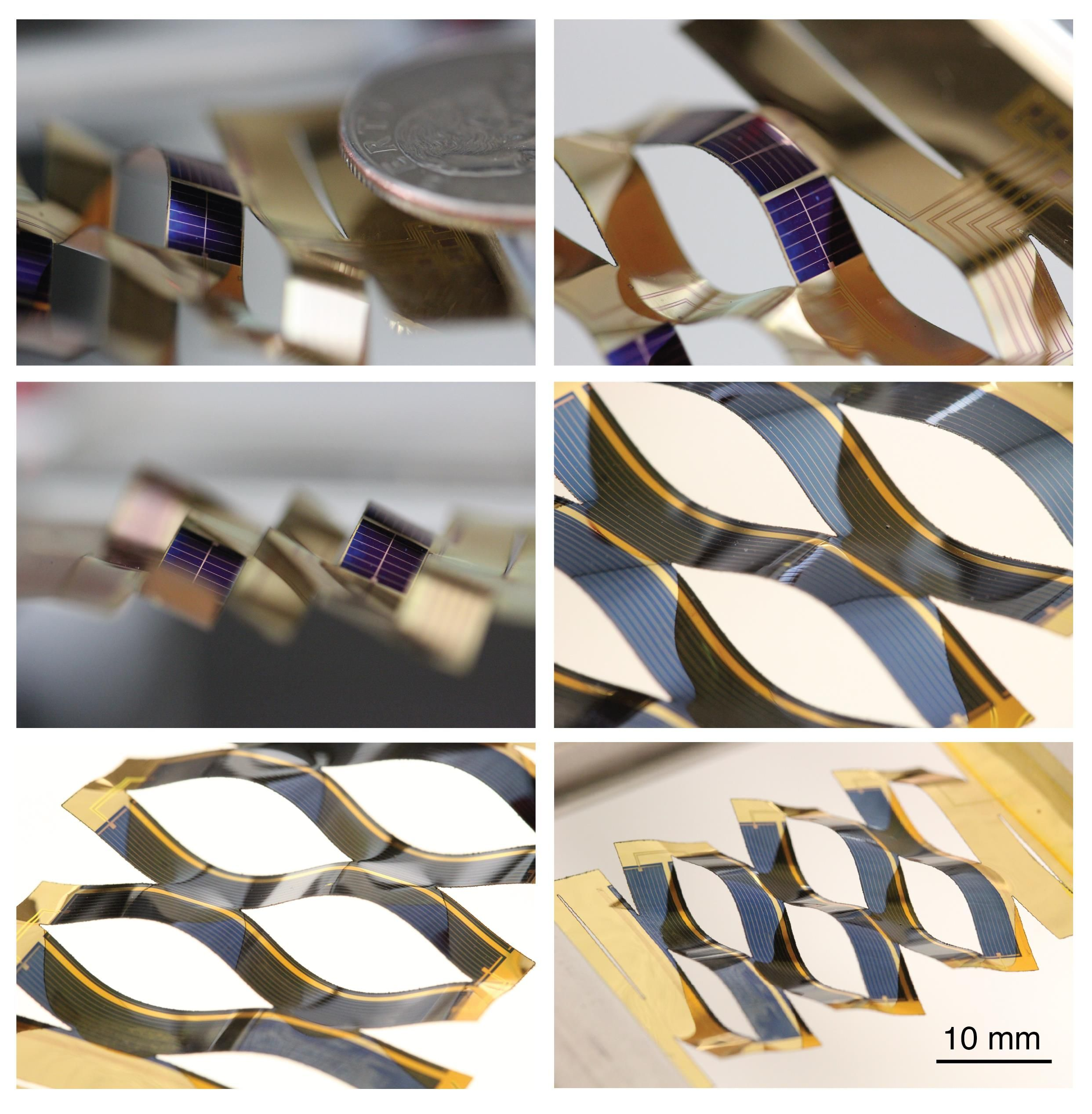 Japanese Paper Cutting Trick for Moving Solar Cells