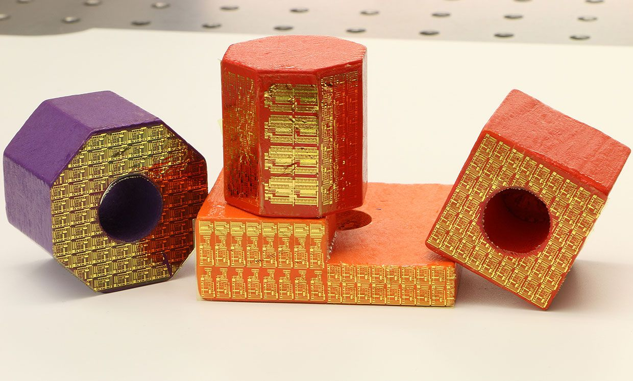 Electronic stickers can turn ordinary toy blocks into high-tech sensors within the 'Internet of Things.'