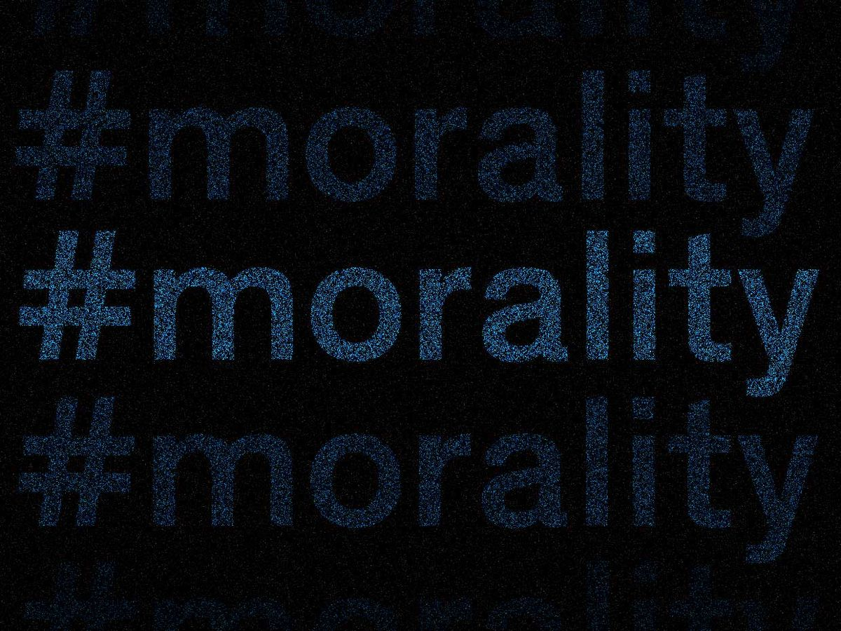 Illustration of the word #morality