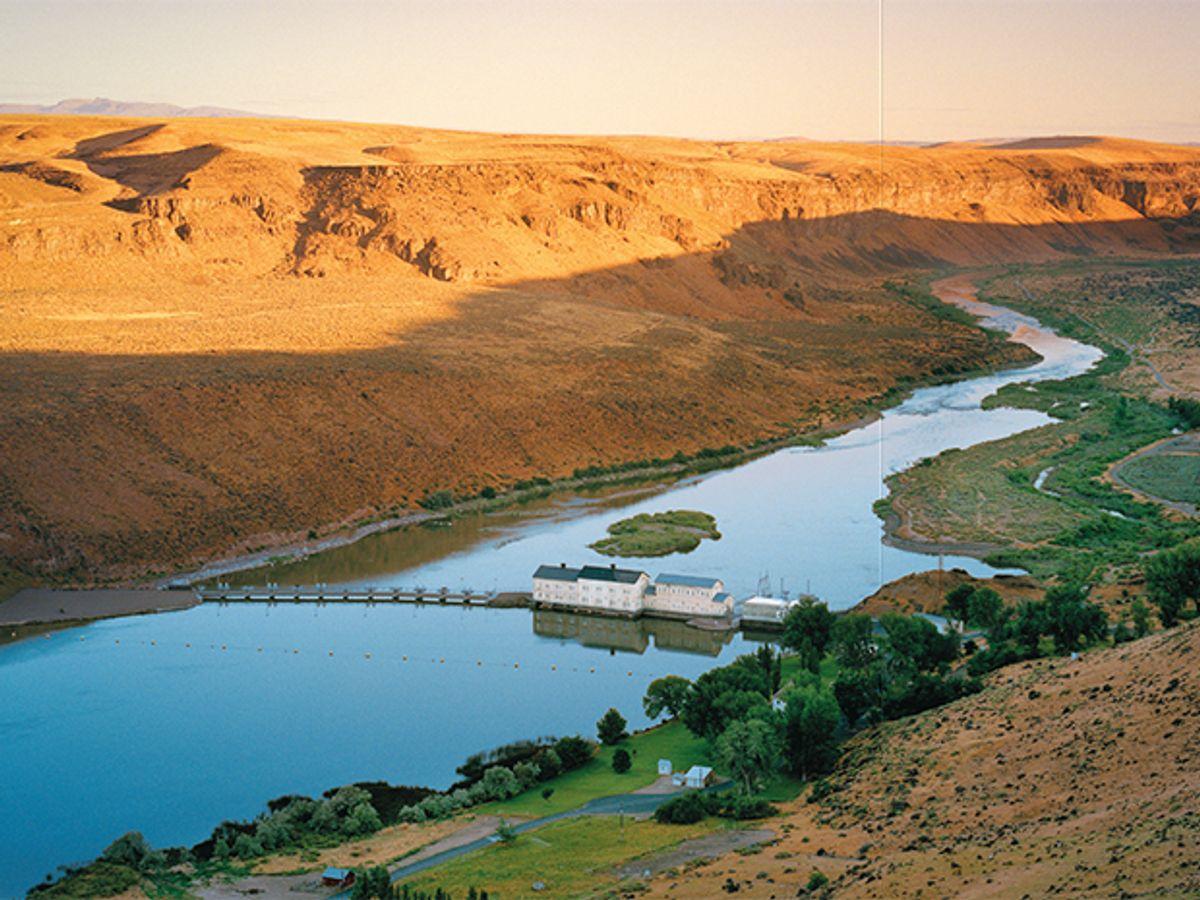 Idaho Power's dam at Swan Falls on the Snake River