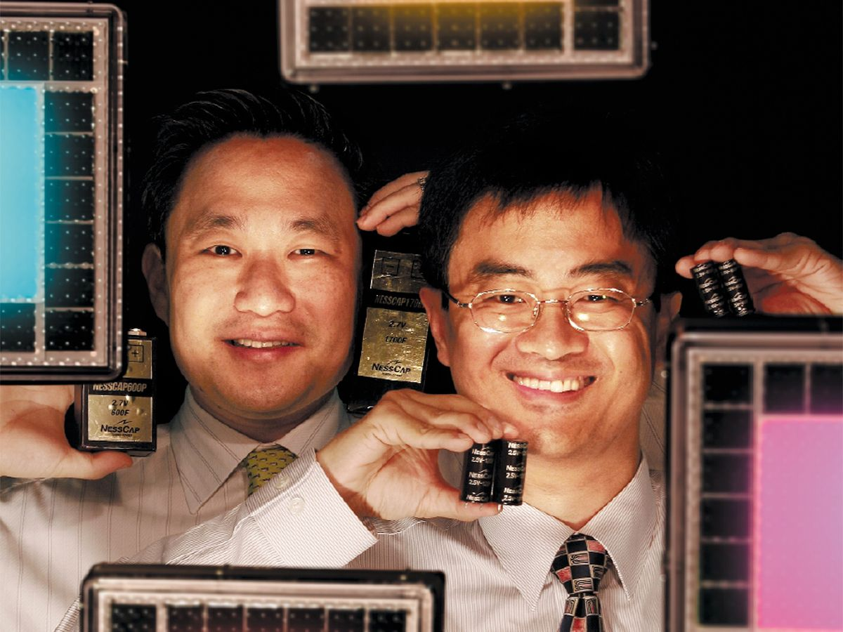 Photo of Founder Sun-wook Kim [left] and chairman Inho Kim of NessCap Co.