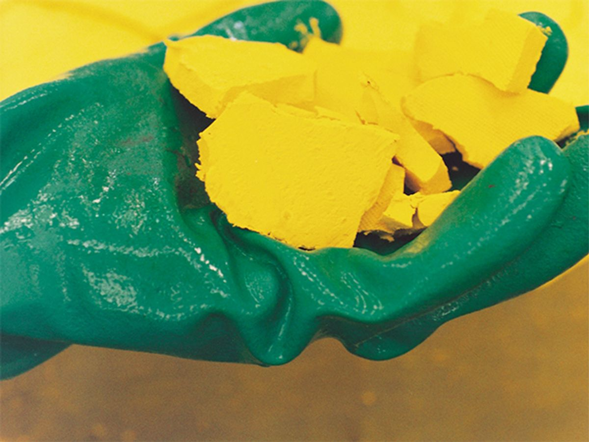 Mining and processing of uranium ore into a concentrate known as yellowcake.