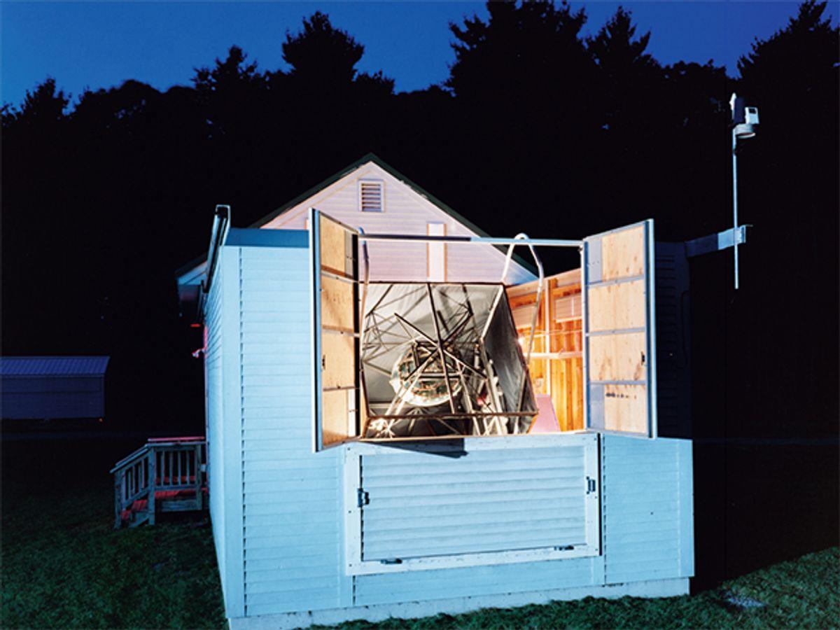 The new telescope at Oak Ridge Observatory, in Harvard, Mass.
