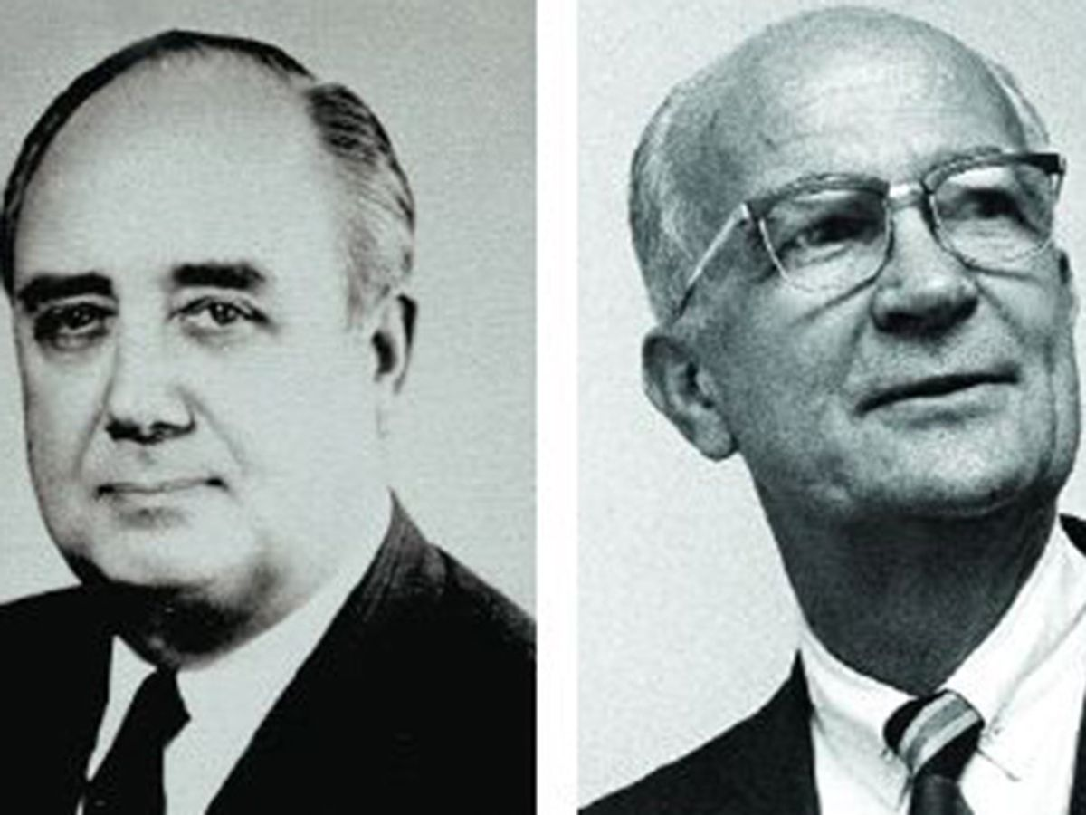 Photo of Gordon Teal and William Shockley