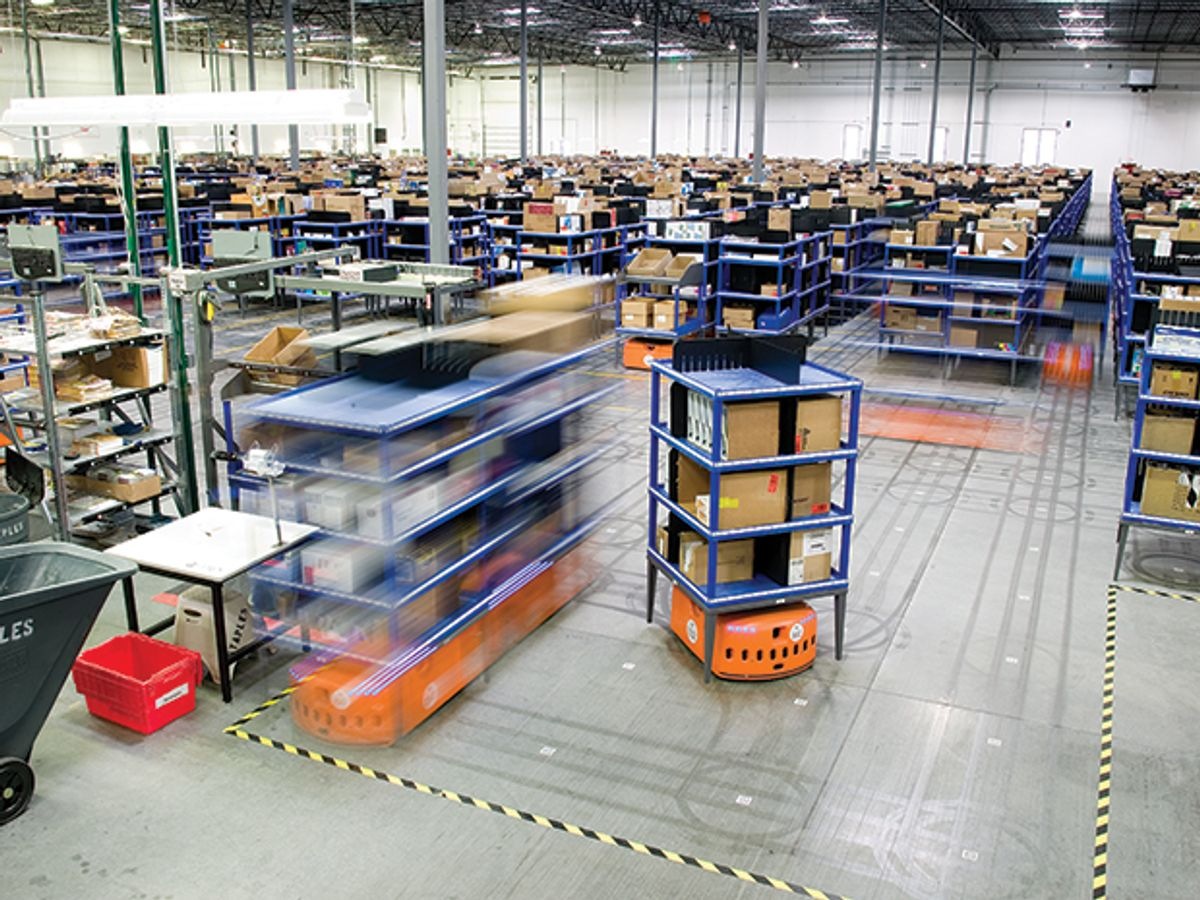 Photo of machines at a Staples Denver facility.