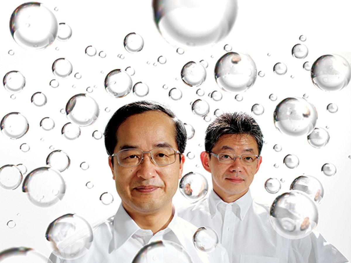 Japanese start-up QD Laser's Yasuhiko Arakawa and Mitsuru Sugawara
