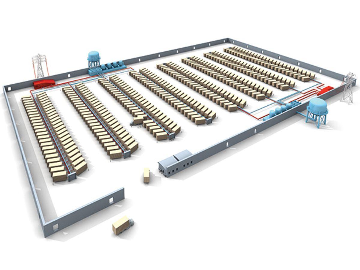 Illustration of a data center.