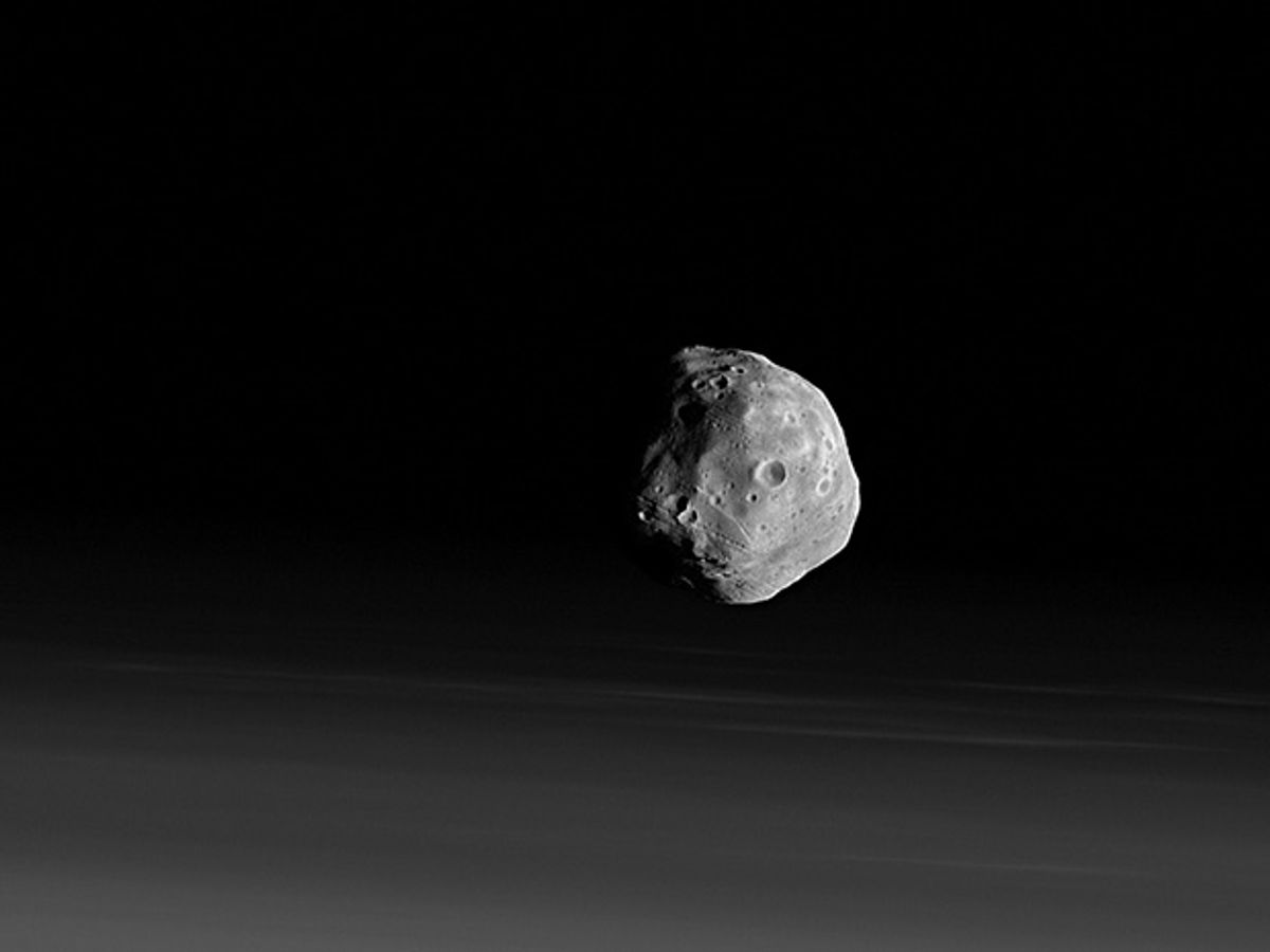 Image of the Martian moon Phobos.