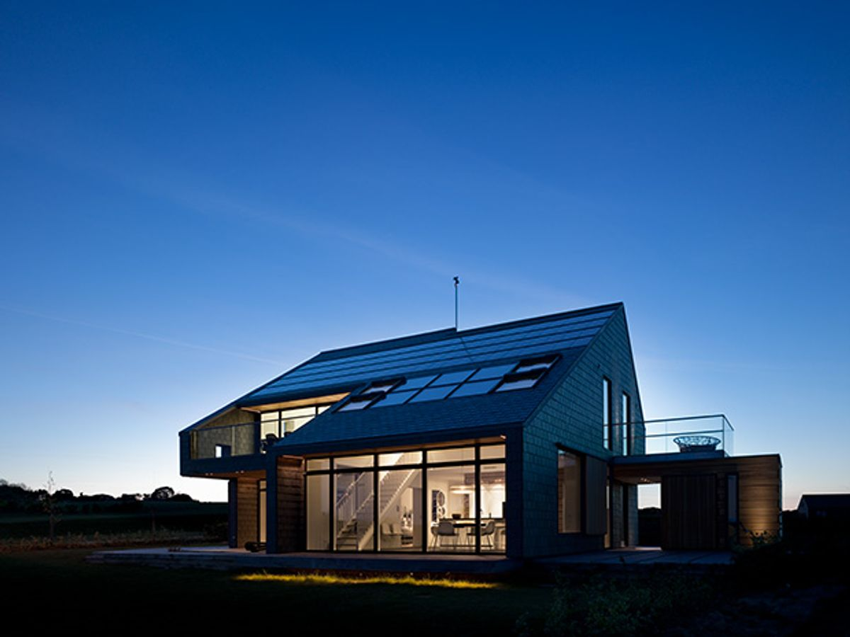 Photo of a Danish carbon-neutral house.