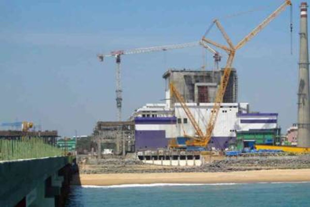 The Kalpakkam fast breeder reactor, near Tamil Nadu, India.