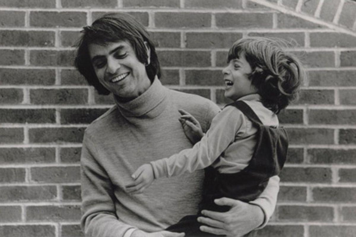 Photo of Carl and Nick Sagan