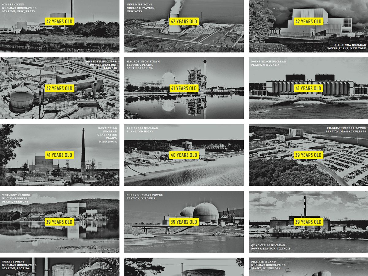 Photos of some of the oldest nuclear power stations in the United States.