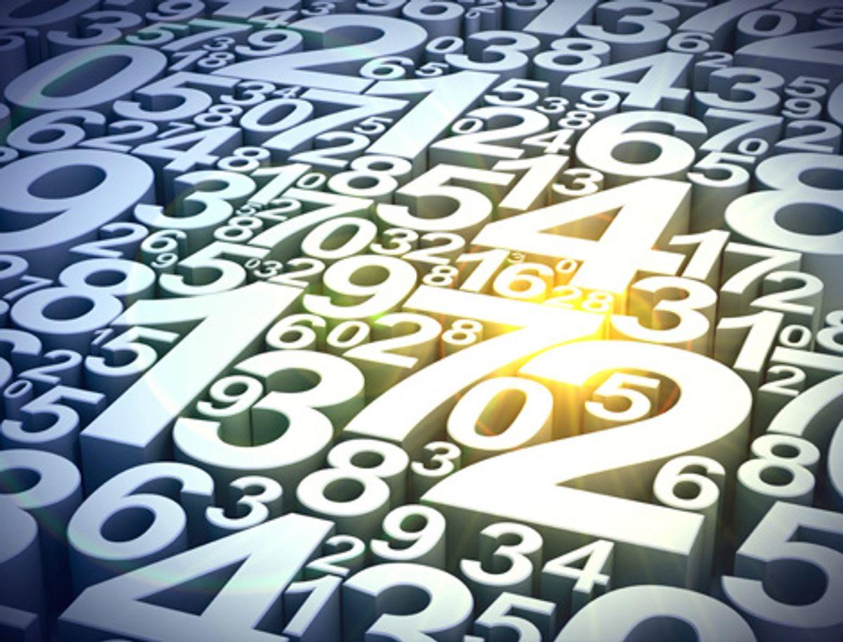 Overhead image of numbers