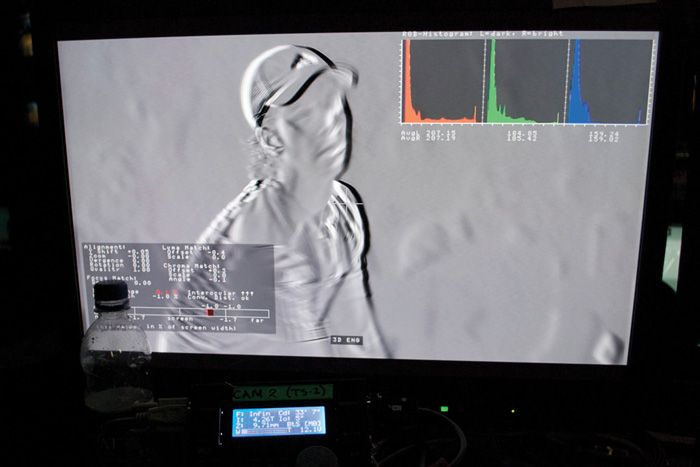 photo of BSkyB's team monitoring its 3-D rig systems