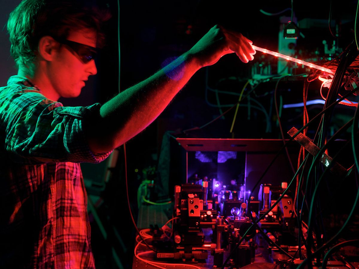 physicist Matthew Broome was part of one of four teams to build and test a quantum boson sampling machine.