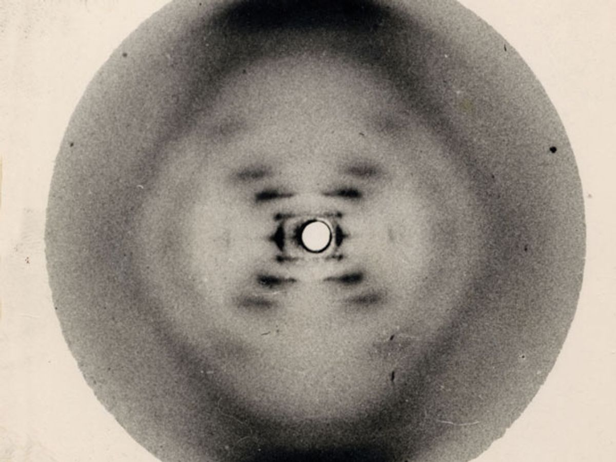 historic X-ray diffraction image of DNA