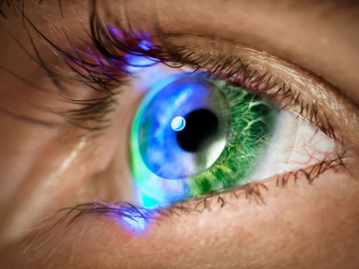 tiny lenslets embedded in a contact lens will allow wearers to see augmented reality eye displays without the head mounted optics otherwise required.