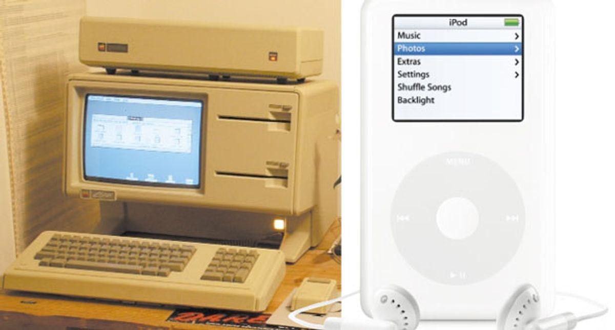 Photos: Left: Tom Stepleton; Right: Apple Computer