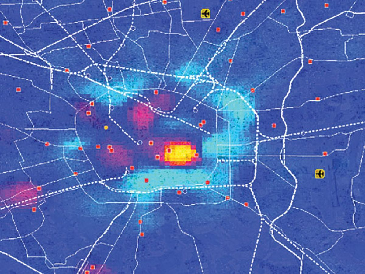 Crowd-mapping With Cell Phones