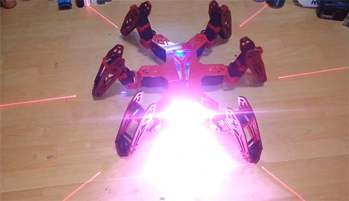 Video Friday: Quadrotor Tour Guides, Laser Hexapods, and Robots vs. Gymnasts