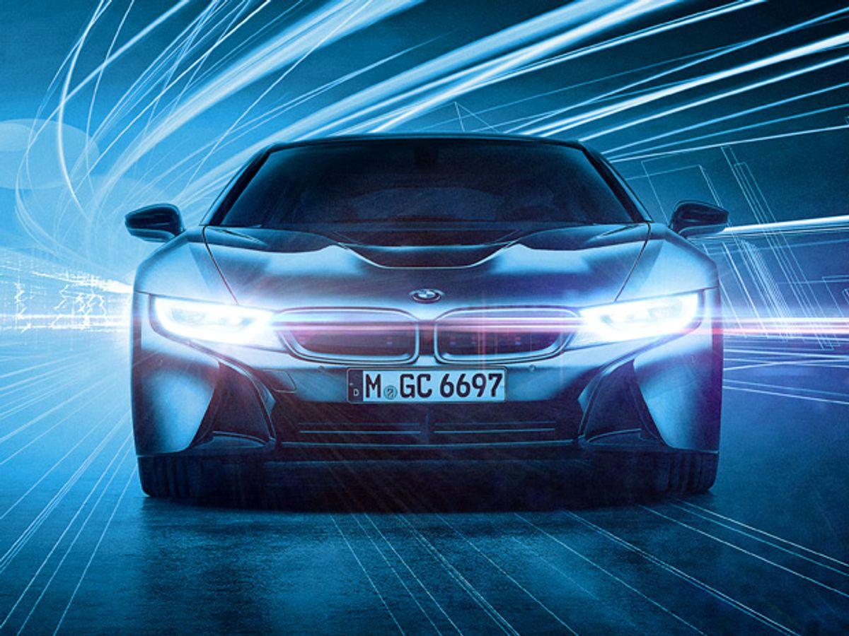 BMW Laser Headlights Slice Through the Dark