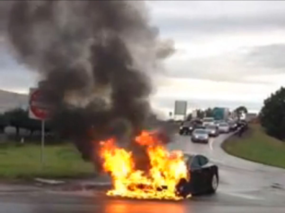 Tesla's Lithium-Ion Battery Catches Fire