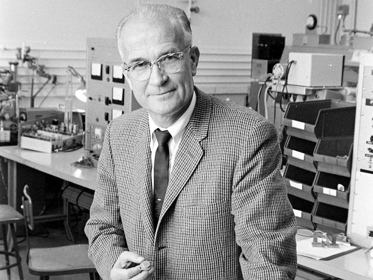 The physicist William Shockley.