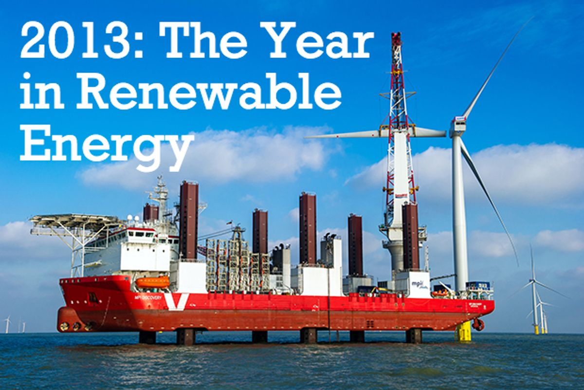 2013 Renewable Energy Recap: A Year of Record Setters and Energy Storage Momentum