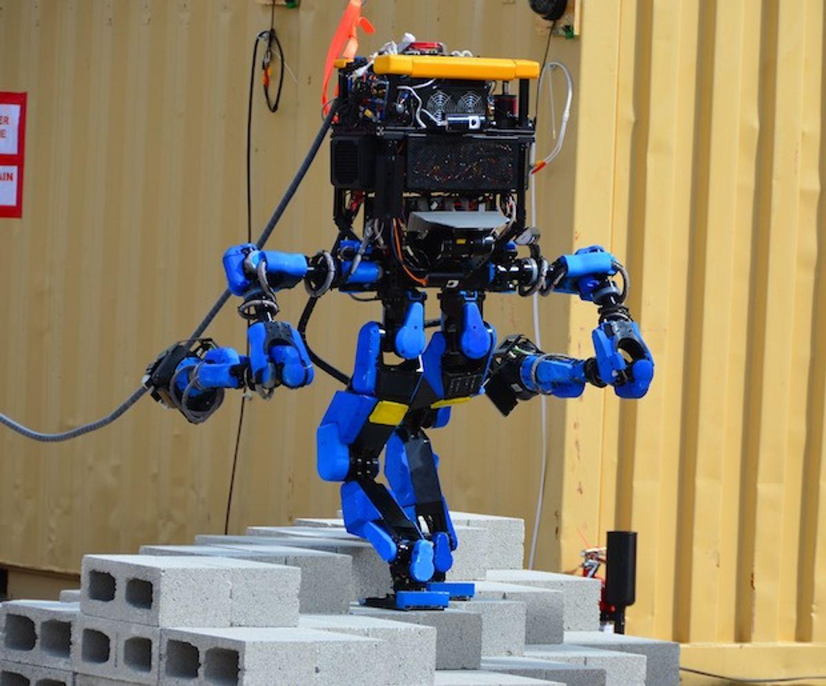 SCHAFT's S-One robot, winner of the DARPA Robotics Challenge Trials