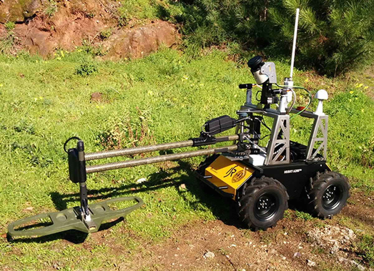 Robot Takes on Landmine Detection While Humans Stay Very Very Far Away